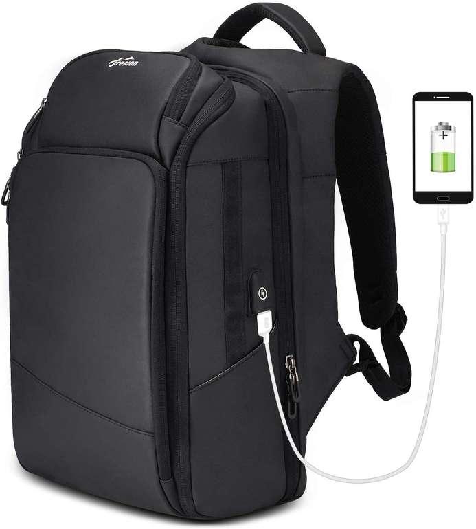 """Fresion 15.6"""" Notebook Rucksack mit USB-Ladeanschluss & 26 L Volumen für 24€ inkl. Versand"""