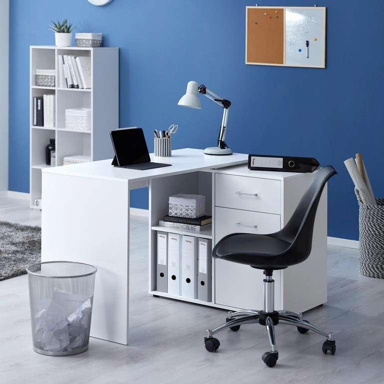 Bessagi Home Schreibtisch 'Basic' in Weiß (150/83/74 cm) für 92,88€ inkl. Versand