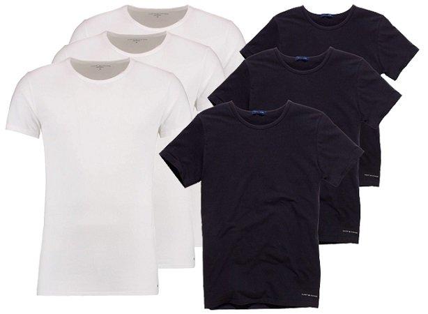 6er Pack Tommy Hilfiger Herren T-Shirts für 64,27€ (3er Pack für 34,61€)