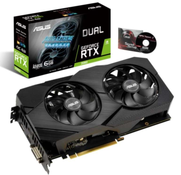 Asus Dual GeForce RTX 2060 Advanced Edition EVO 6GB GDDR6 Grafikkarte für 324,67€ (statt 360€)