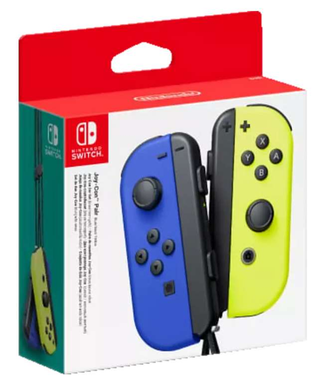 2er-Set Nintendo Switch Joy-Con Controller in Neon-Gelb/Blau für 54,99€ inkl. Versand (statt 63€)