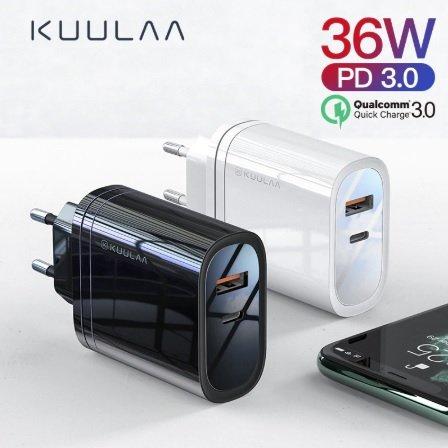 Kuulaa 36W USB Quick Charger für 3,67€ inklusive Versand (statt 9€)