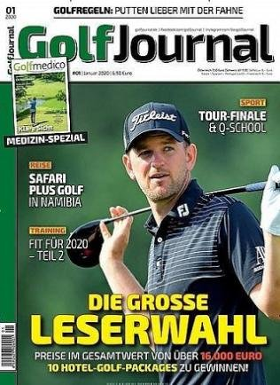 """Jahresabonnement  der Zeitschrift """"Golf Journal"""" mit 12 Ausgaben für 82,60€ + 80€ Prämie"""
