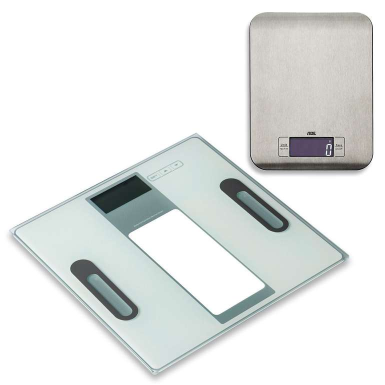 Ade Personen-Körperanalysewaage Tabea BA 1301 + Küchenwaage Ronda KE 1511 für 14,99€ inkl. Versand (statt 29€)