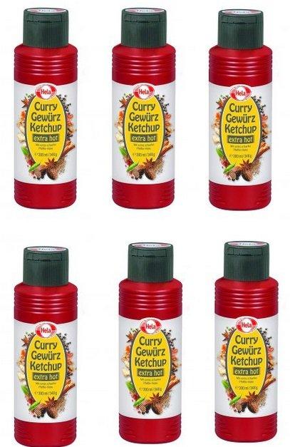 6er Pack Hela Curry Gewürzketchup Extra Hot (MHD 07.2019) für 7,77€ inkl. VSK