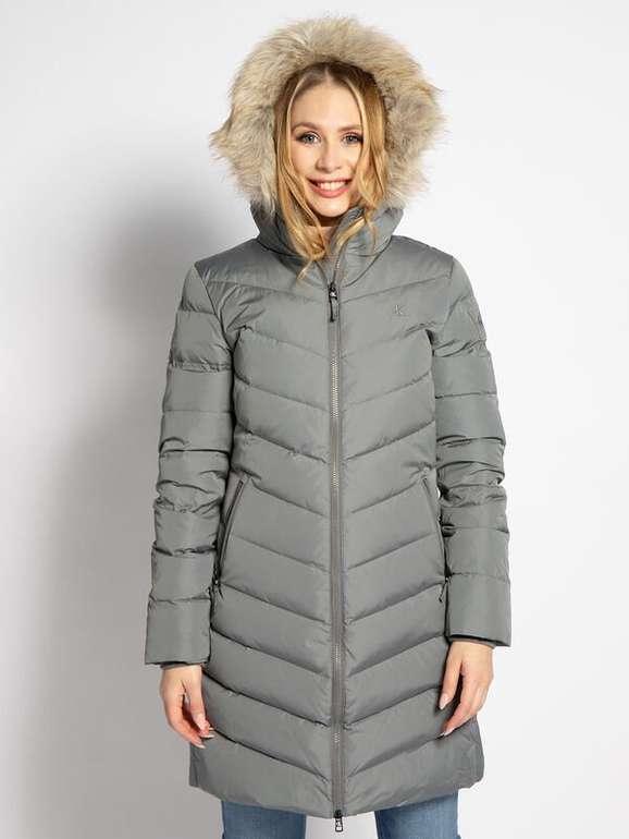 Calvin Klein Damen Daunenmantel Fake Fur in Grau für 160,59€ inkl. Versand (statt 270€)