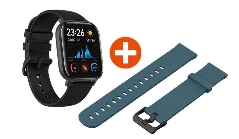 AmazFit GTS Smartwatch mit Aluminium Gehäuse + 2. Armband für 84,90€ (statt 96€) - Newsletter!