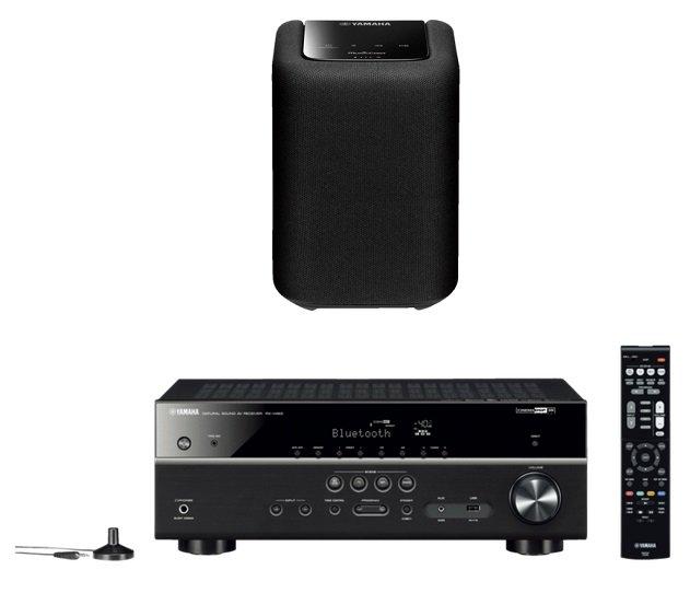 YAMAHA RX-V483 5.1 AV-Receiver + YAMAHA WX 010 Bluetooth Lautsprecher für 353,99€