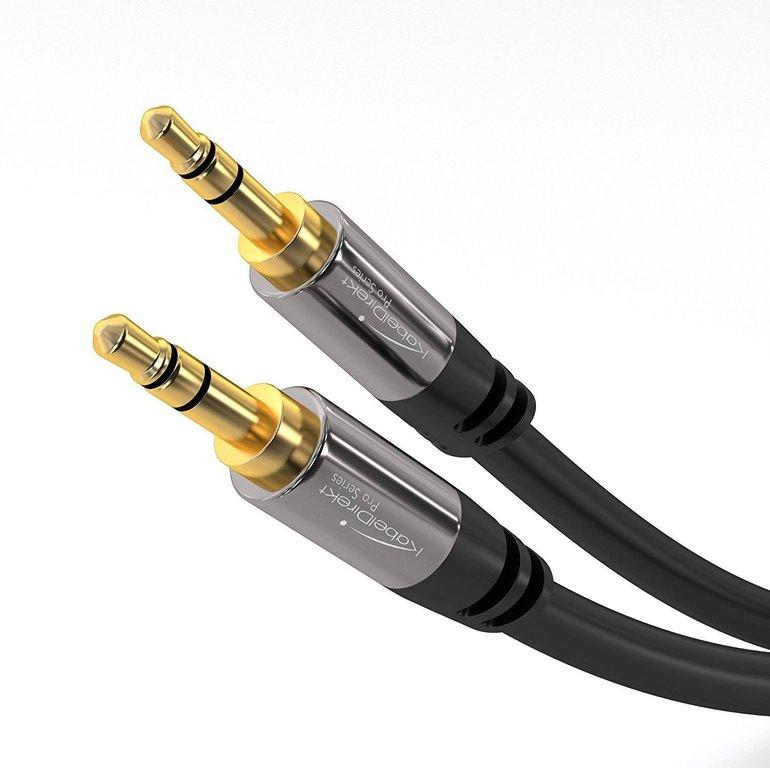 Schnell! KabelDirekt 0,5m AUX-Kabel (3.5mm, Klinkenstecker) je 1,52€ mit Prime