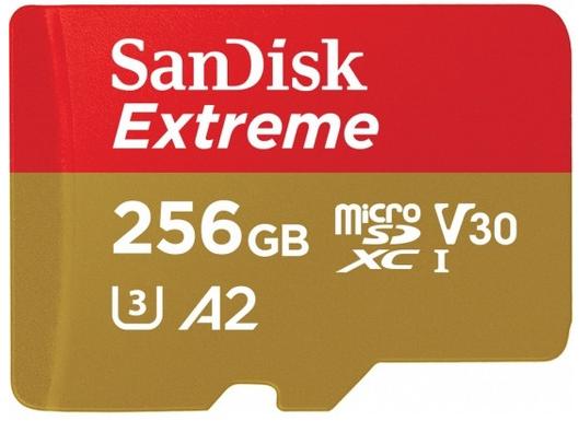 SanDisk Extreme 256GB A2 microSD Karte für 70,90€ inkl. Versand (statt 79€)