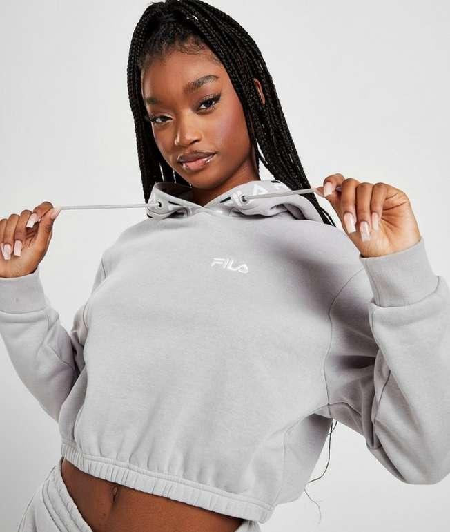 Fila Crop Repeat Logo Damen Hoodie in Grau für 20€ inkl. Versand (statt 40€)