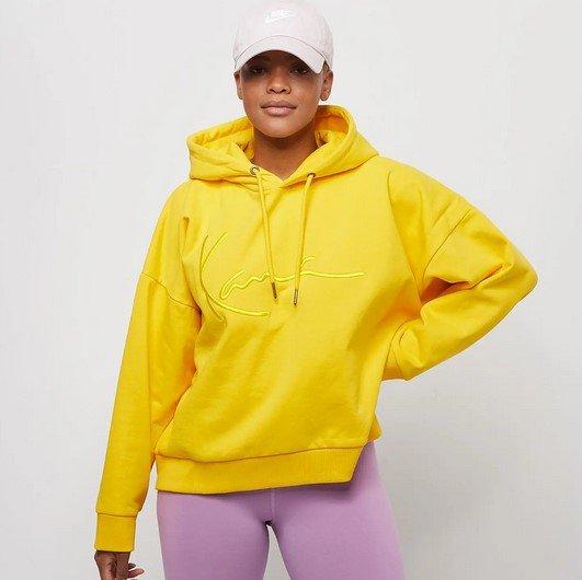 Karl Kani Signature Washed Damen Hoodie in Gelb für 40€ inkl. Versand (statt 70€)