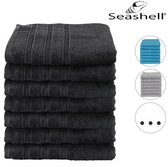 7er Pack Seashell Luxor Hotel Deluxe Handtücher 50 x 100cm (550 g/m²) für 25,90€