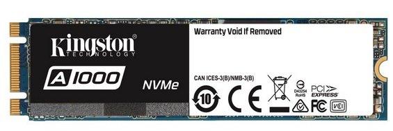 Kingston A1000 M2 SSD mit 240GB für 48,89€ inkl. VSK (statt 59€)
