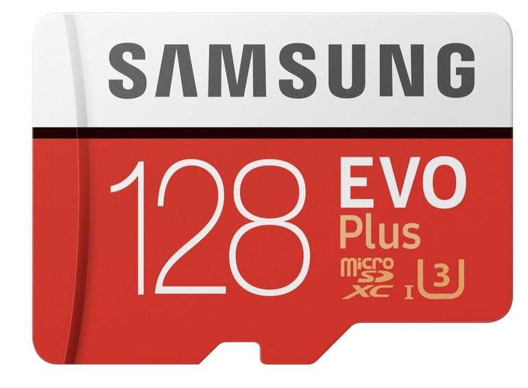 Samsung EVO Plus 128GB, bis zu 100 Mbit/s, Class 10 für 13,99€ inkl. Versand (statt 21€)