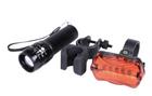 Fahrradbeleuchtung mit Taschenlampe für 3,90€ inkl. Versand