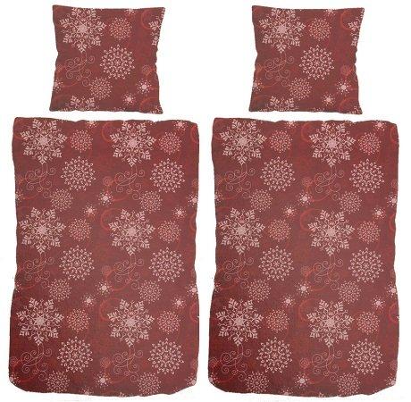 4er-Set Bettwäsche (2x Kissen / 2x Deckenbezug) in Rot für nur 14,95€ inkl. VSK