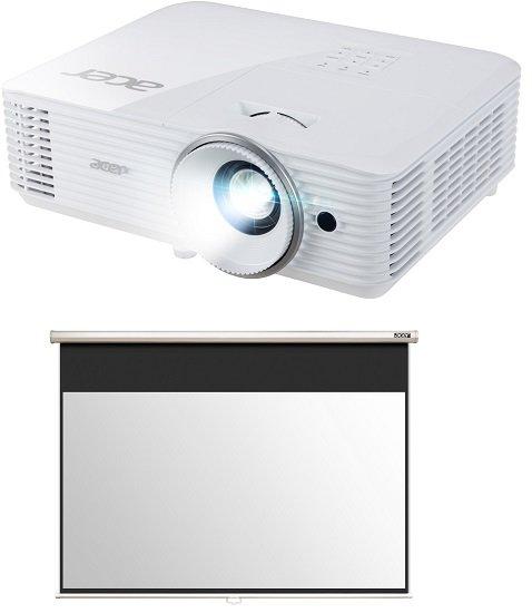 Acer H6522ABD Beamer (Full-HD, 3D, 3500 cd/m²) + Acer Leinwand für 479€ (statt 578€)