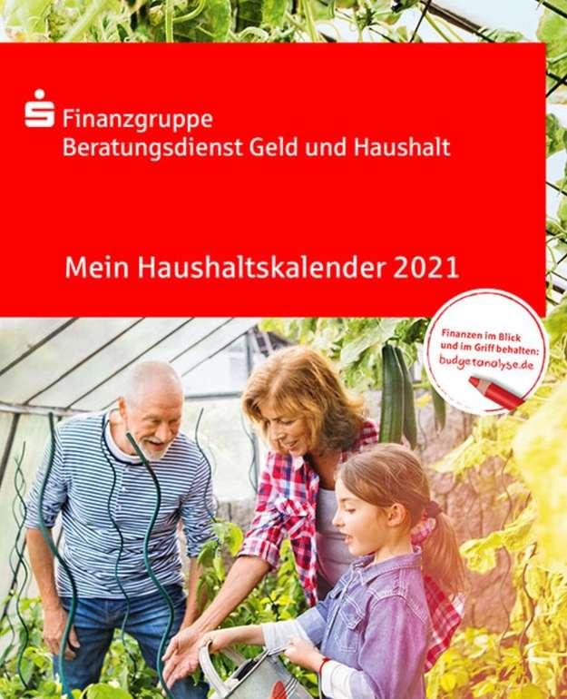 Gratis: Haushaltsbuch/Haushaltskalender 2021 kostenlos bestellen