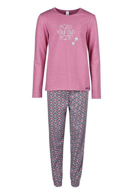 Skiny Mädchen Pyjama in basaltgrau/lila für 8,93€ inkl. Versand