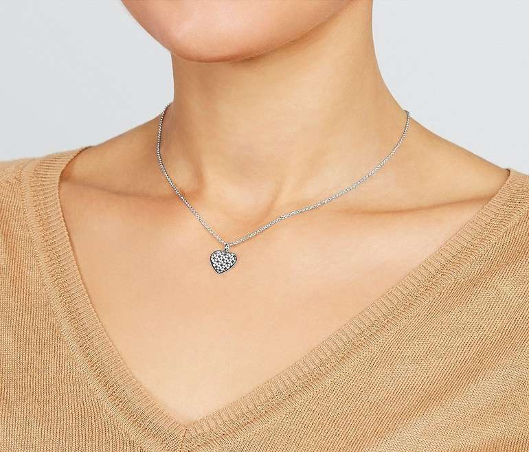 "Fossil Damen Halskette ""Cutout Heart"" (Sterling Silver) für 24€ inkl. Versand (statt 32€)"