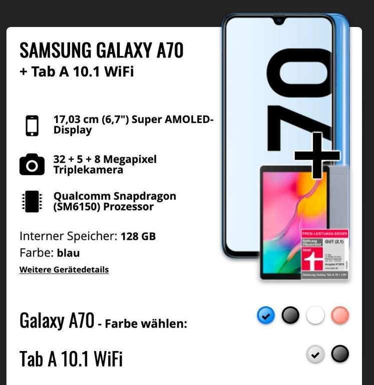 Samsung Galaxy A70 und Galaxy Tab A 10.1 (49€) + congstar Allnet Flat (Allnet, SMS-Flat, 8GB LTE) für 25€ mtl.