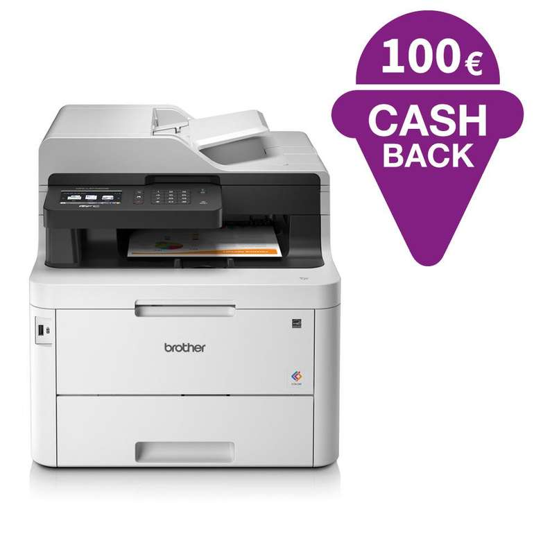 Brother MFC-L3770CDW 4-in-1 Farblaser-Multifunktionsgerät für 368,90€ + 100€ Cashback