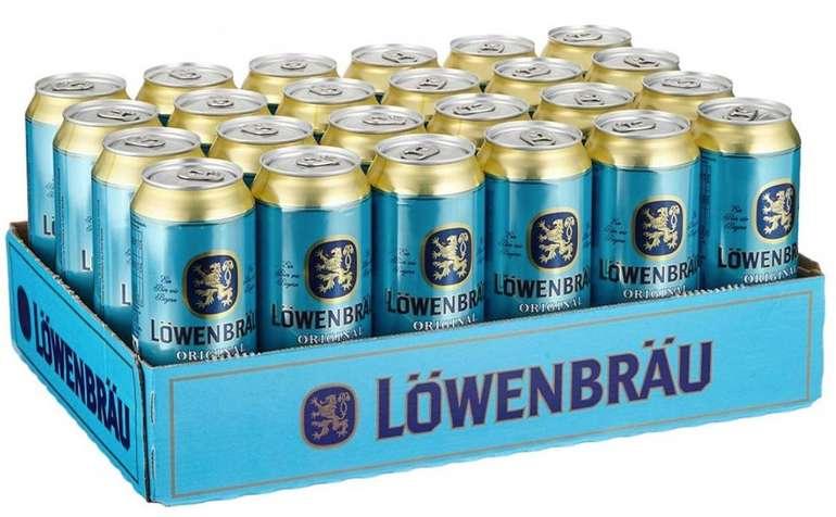 24x 0,5 Liter Löwenbräu Original - Helles Dosenbier (inkl. Pfand) für 17,11€ (statt 23€)