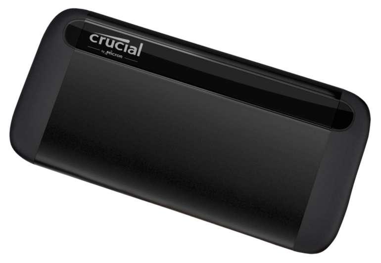 Crucial CT1000X8SSD9 1TB X8 Portable SSD (bis zu 1050MB/s, USB 3.2, USB-C, USB-A) für 138,57€ (statt 177€)
