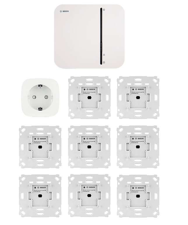 Bosch Smart Home Starter Set Rolladensteuerung + 8 Aktoren + Steckdose für 379€ inkl. Versand