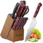 Homgeek 15-tlg. Messerblock für 35,99€ + Chef-Küchenmesser (20cm) für 11,99€