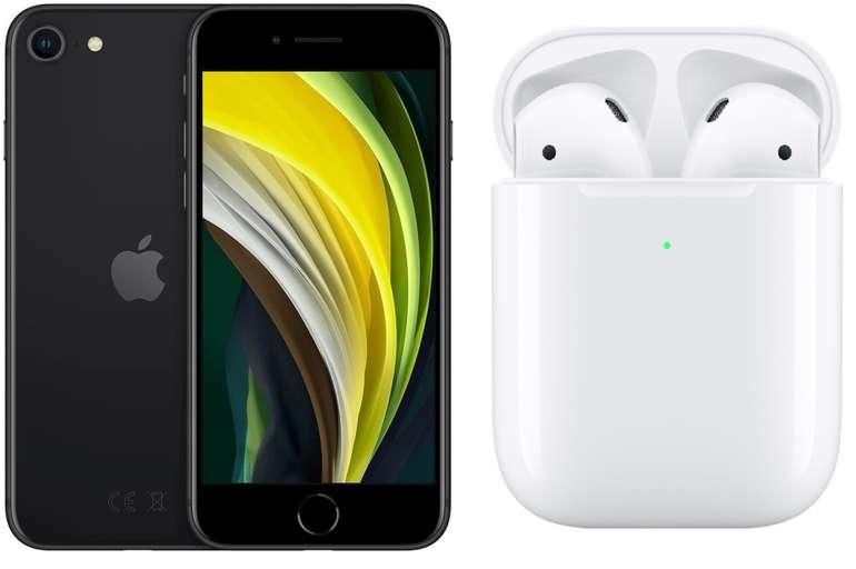Apple iPhone SE (49,95€) + Airpods 2 Gen. mit kabellosem Ladecase + Vodafone Smart L + (15GB) für 34,99€ mtl.