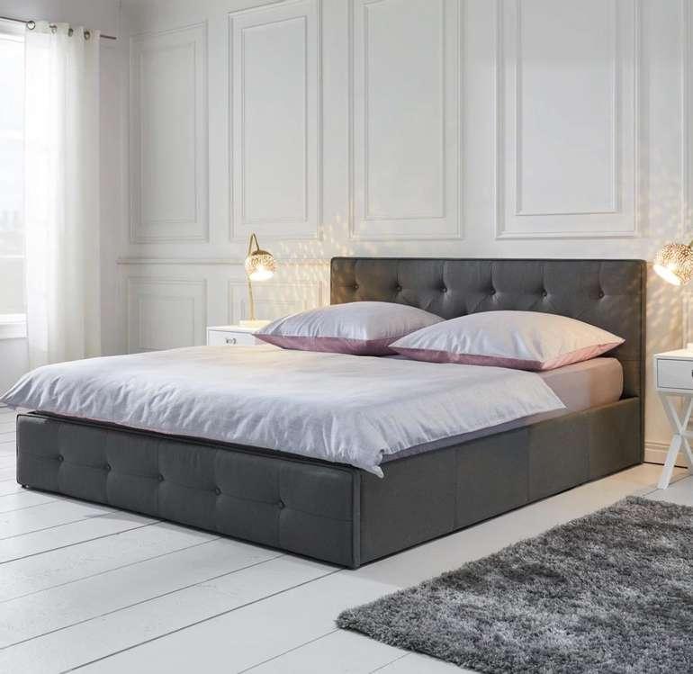 "Bessagi Home Bett ""Julie"" (180 x 200 cm, inkl. Lattenrost und Bettkasten) für 179,25€ inkl. Versand (statt 240€)"