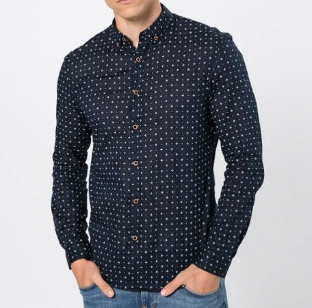 Tom Tailor Hemd 'Summery Light Cotton Shirt' in dunkelgrau für 13,46€ inkl. VSK