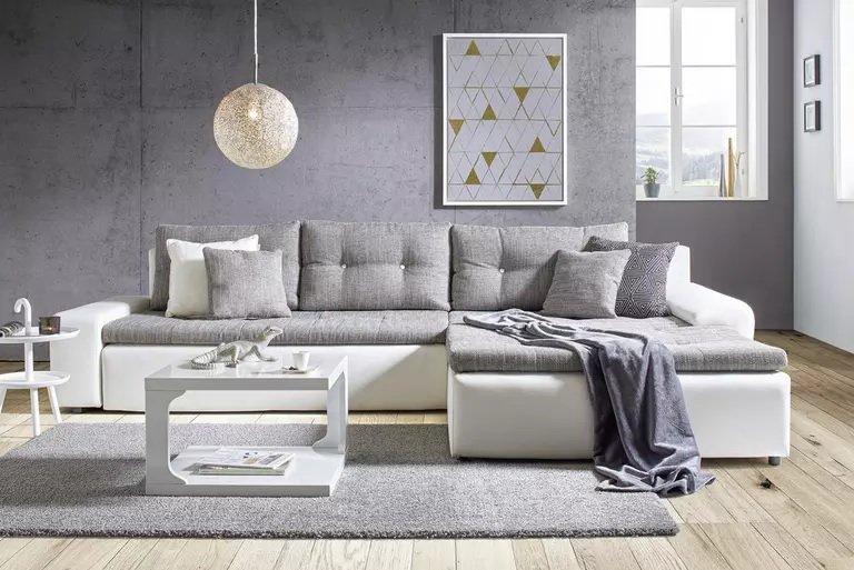 Modern Living Wohnlandschaft in Grau/Weiß oder Schwarz/Grau für 688,30€ inkl. Versand (statt 828€)