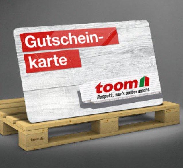 Gutschein-Tag bei toom Baumarkt: Heute gibt es je 100€ Einkaufs-Wert einen 20€ Gutschein geschenkt