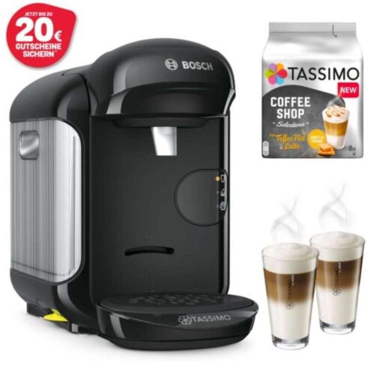 Bosch Tassimo Vivy 2 TAS1402 Kapselmaschine + 2 WMF-Gläser (300ml) + 8 Kapseln für 26,99€