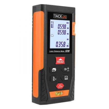 Tacklife HD 60 Laser-Entfernungsmesser (0,05~60m/±2mm) für 20,99€ (Prime)