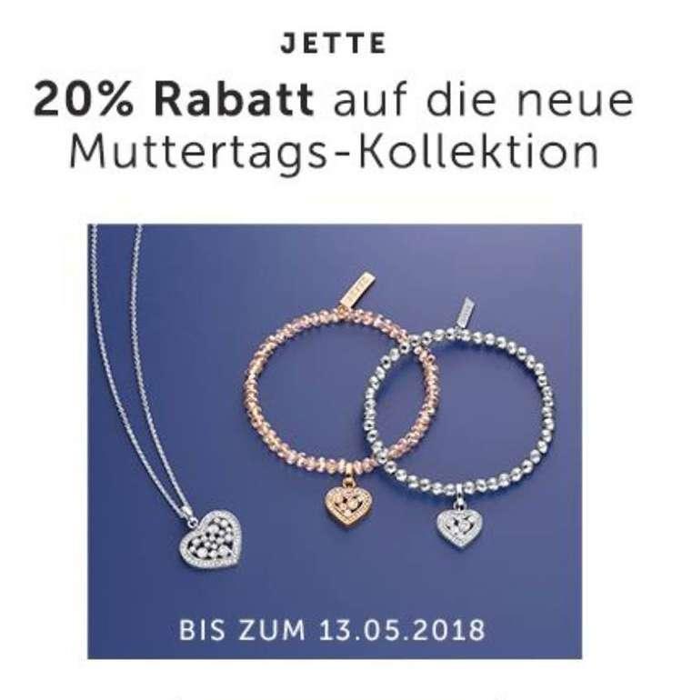 Christ: 20% Rabatt auf die JETTE-Muttertags-Kollektion MBW 79€ z.B. Kette Silver