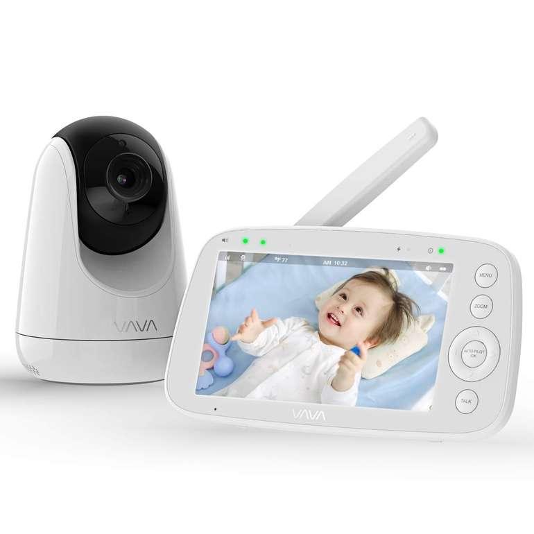 """Vava Babyphone mit 5"""" HD Display (Gegensprechfunktion, Nachtsicht, Temperatursensor) für 118,99€"""