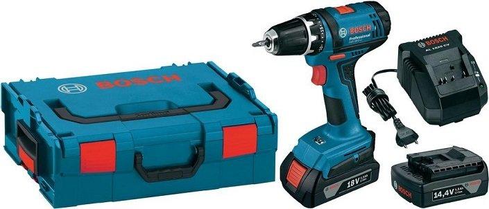 Bosch GSR 18-2-Li Professional + 2x 1,5Ah Akku + Ladegerät + L-BOXX für 98,95€