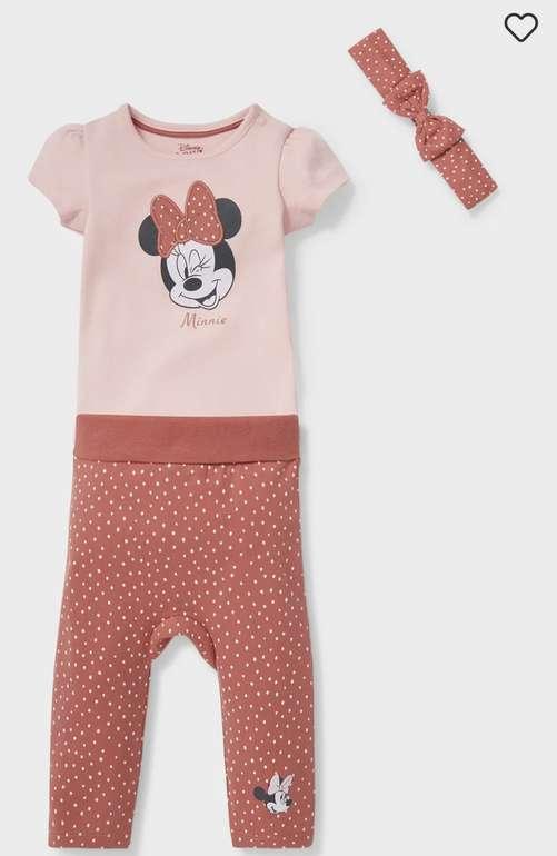 C&A Minnie Maus Baby-Outfit aus Bio-Baumwolle (3 teilig) für 9,99€inkl. Versand (statt 18€)