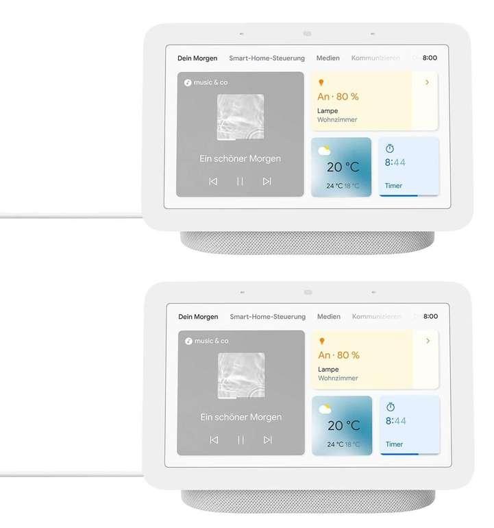 2x Google Nest Hub (2. Generation) Smart Display mit Sprachsteuerung für 135€ inkl. Versand (statt 172€)