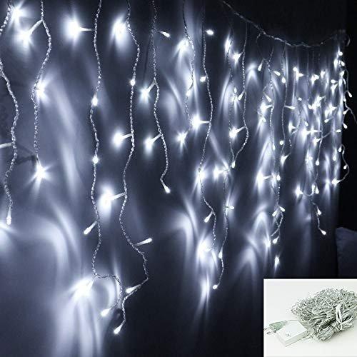 Vingo: Verschiedene LED Eisregen Lichternetze im Angebot, z.B. 200 LEDs Blau für 8,24€