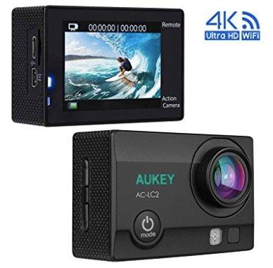 Aukey 4K Ultra HD Action Cam (WiFi + 2,4GHz Fernbedienung) für 49,99€