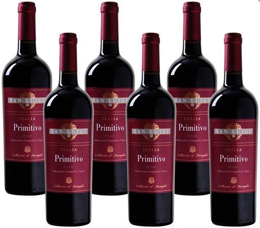 6 Flaschen San Luigi – Collezione di Famiglia Primitivo für 29,94€ inkl. VSK