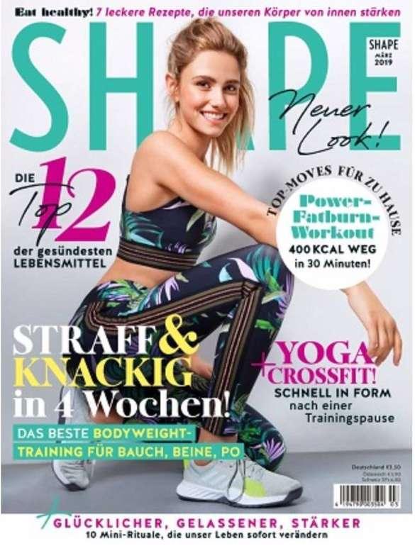 """Fitness-Zeitschrift """"SHAPE"""" im Jahresabo für 34€ + z.B. 35€ Otto Gutschein"""