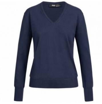 Fila Damen Jumper Retro V-Neck Sweater aus reiner Baumwolle für je 11,94€