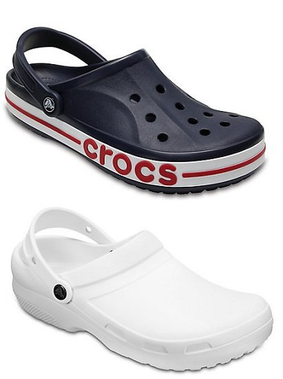 Crocs: 40% Rabatt für Bestellungen ab 2 Paar + VSKfrei, z.B. Bayaband Clog + Specialist II Clog für 53,98€