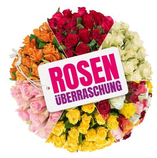 Blume Ideal Rosenüberraschung: Strauß mit 41 bunten Rosen für 24,98€ inkl. Versand